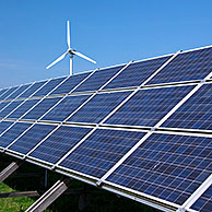 Photovoltaic solar panels for electricity production, Germany