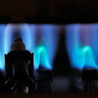 Gas flame of boiler