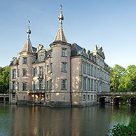 Poeke castle and lake, Belgium