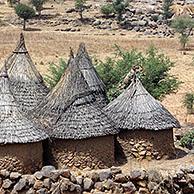 Animist village near Rumsiki in Cameroon, Africa