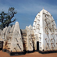 Mosque made of clay, Larabanga, Sahel, Ghana, Africa