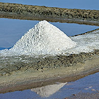 Salt pan for the poduction of Fleur de sel / sea salt on the island Ile de Ré, Charente-Maritime, France