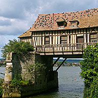 The Old Mill /Vieux Moulin de Vernon over the river Seine, Normandy, France