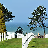 The Normandy American Cemetery and Memorial is a World War II cemetery and memorial at Colleville-sur-Mer, Normandy, France