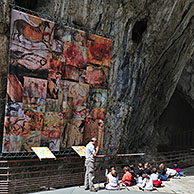 The Cave of Niaux, famous for its prehistoric paintings from the Magdalenian period, Midi-Pyrénées, Pyrenees, France