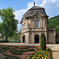 The rococo pavilion and municipal park at Echternach, Grand Duchy of Luxembourg