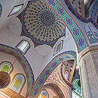 Interior of the Kocatepe Camii, largest mosque in Ankara, Turkey