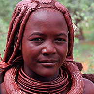 Himba woman portrait, Kaokoland, Namibia, South Africa