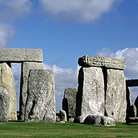 The prehistoric monument Stonehenge near Amesbury, Wiltshire, UK