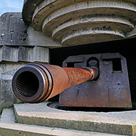 Batterie Le Chaos, part of the Atlantikwall at Longues-sur-Mer, Normandy, France